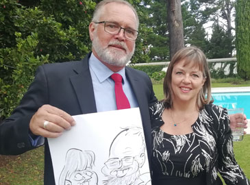 Live Wedding Caricature Drawing